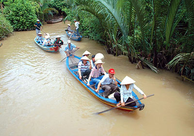 Mekong river in My Tho